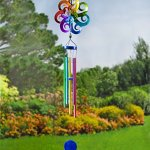 Plow-Hearth-54487-Large-Hanging-Solar-Spinner-Wind-Chimes-Multicolored-0