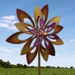 Spinning-Purple-Flower-Garden-Windmill-0