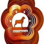 Stainless-Steel-Wind-Spinner-12-Animal-Dog-Breed-Rottweiler-Copper-Starlight-0