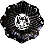 Stainless-Steel-Wolf-Head-12-Inch-Wind-Spinner-Black-0