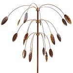 Stanwood-Wind-Sculpture-Kinetic-Copper-Triple-Spinner-Falling-Foliage-0