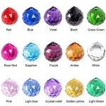 SunAngel-Multi-color-Glass-Crystal-Ball-Prisms-Pendant-Feng-Shui-Suncatcher-Decorating-Hanging-Faceted-Prism-Balls-for-Feng-ShuiDivination-or-WeddingHomeOffice-Decoration-30mm-Pack-of-15-0-2
