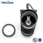 TENGXIN-Outdoor-Wall-Lamp-Modern-Wall-Sconce-Outdoor-Light-Fixture-Black-Aluminum-MaterialToughened-GlassE27WaterproofUL-Listed-0-2
