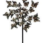 Upper-Deck-LTD-Aged-Copper-Finish-Butterfly-Garden-Twirler-Kinetic-Wind-Spinner-Stake-0