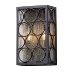 Wall-Sconces-2-Light-with-Textured-Bronze-Finish-Aluminum-Material-Candelabra-8-inch-Wide-120-Watts-0