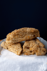 Bacon Cheddar Scones Recipe | farmgirlgourmet.com