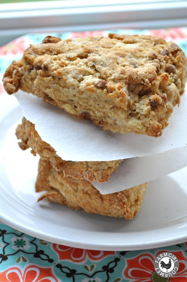 Cinnamon Yogurt Scones Recipe | farmgirlgourmet.com