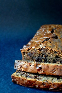 Chocolate Chocolate Chip Olive Oil Zucchini Bread