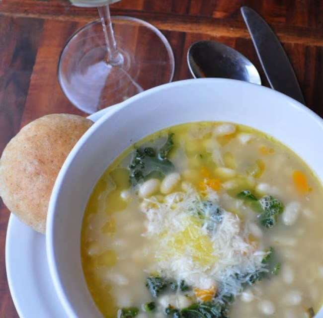 Tuscan White Bean Soup with Broccoli Rabe