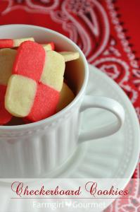 Valentine's Checkerboard Cookies
