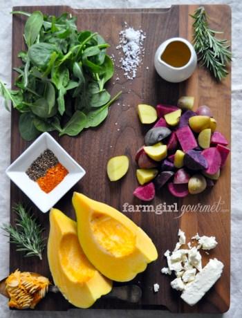 Warm Potato & Acorn Squash Salad | farmgirlgourmet.com