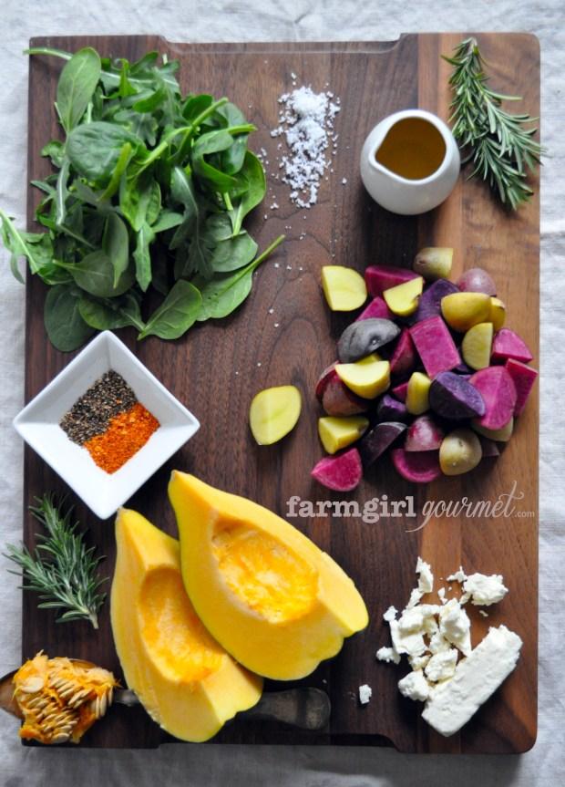 Warm Potato & Acorn Squash Salad - farmgirlgourmet.com