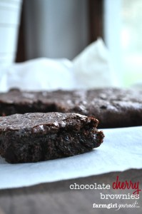 Chocolate Cherry Brownies | farmgirlgourmet.com