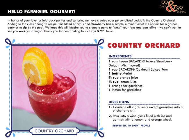 Country Orchard by BACARDI® - farmgirlgourmet.com