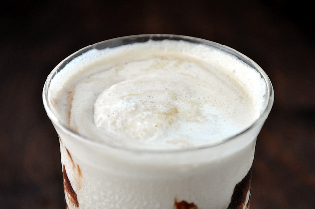 Churro Caramel Mocha Affogato Frappe | farmgirlgourmet.com #IScream4ID