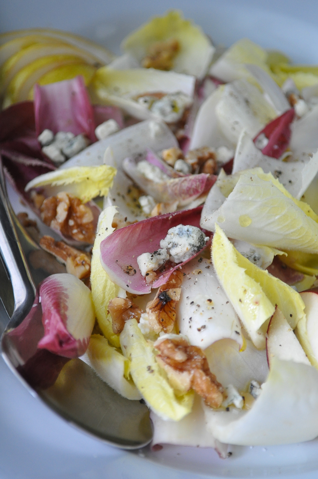 Endive Salad with Stilton, Pear & Walnuts | farmgirlgourmet.com