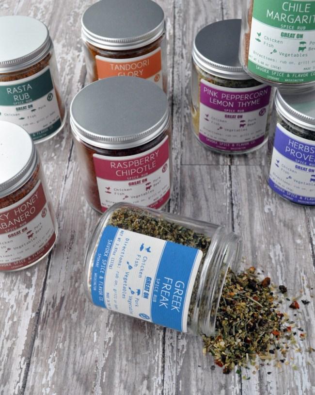 8 Pack Spice Rubs | savorx.com #spices #spicerubs
