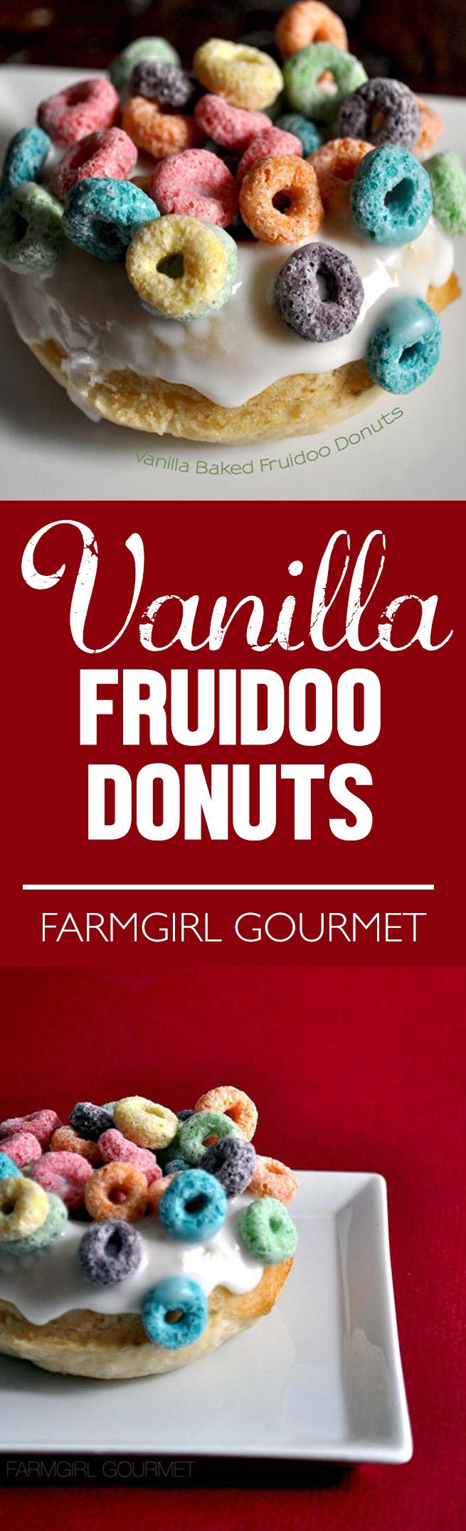Vanilla Baked Fruidoo Donuts recipe   farmgirlgourmet.com