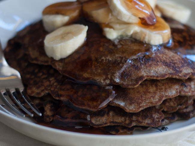 Buckwheat Hoe Cakes with Fresh Banana | farmgirlgourmet.com #mymilkchoice #ad #breakfast