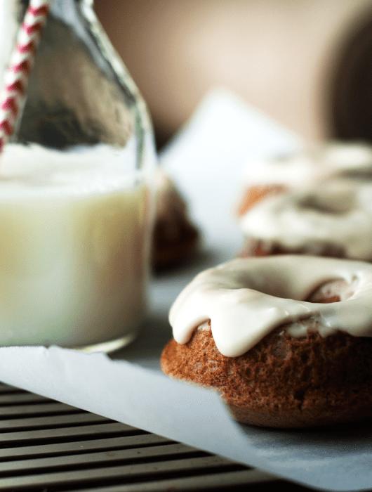 Baked Chai Donuts with Bourbon Glaze | farmgirlgourmet.com