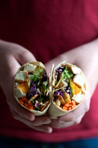 Chinese Chicken Wraps | farmgirlgourmet.com