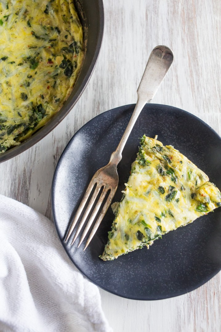 Spinach Artichoke Frittata Recipe | farmgirlgourmet.com