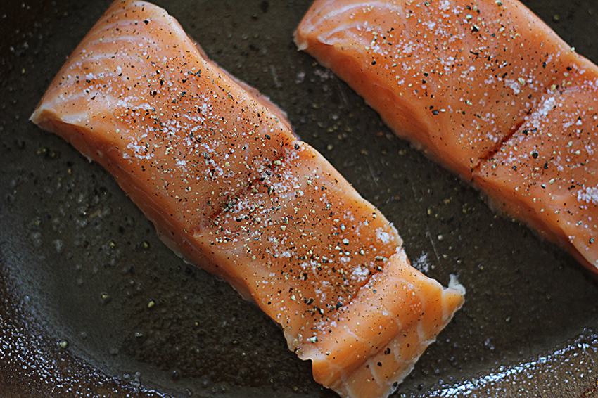 Baked Salmon in Parmesan Cream | farmgirlgourmet.com