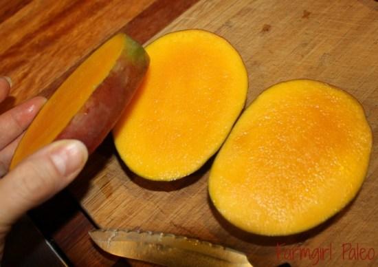 Cut Core from Mango