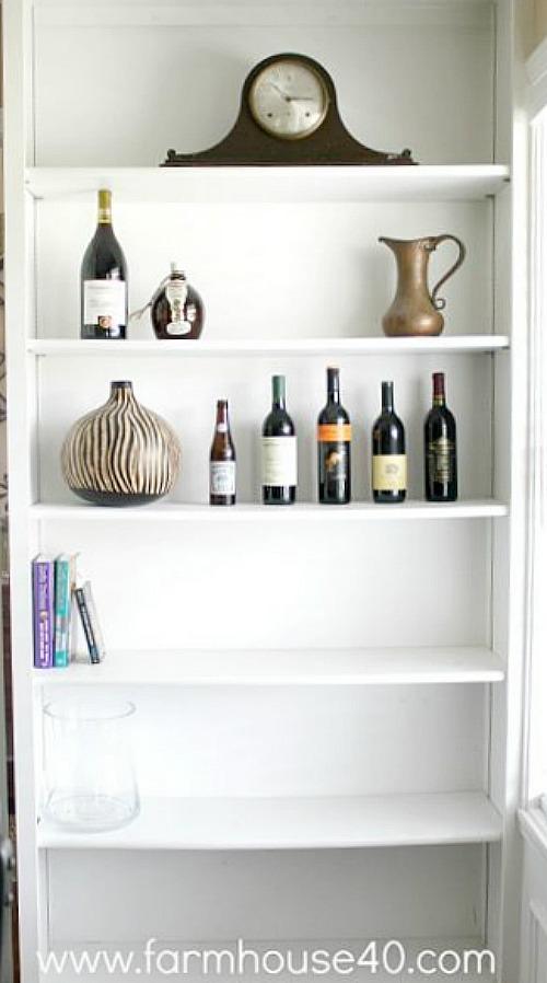 Decorating Shelves On A Budget - FARMHOUSE 40