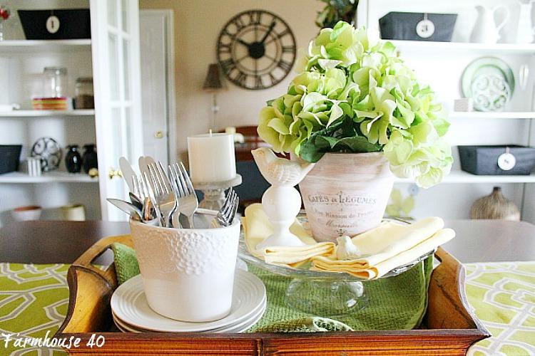 Spring Cafe Pot Vignette for your table