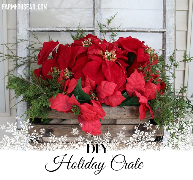 holiday wood crate banner