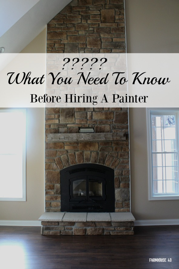what you need to know to hire a painter