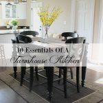 10 ESSENTIALS FOR A FARMHOUSE KITCHEN