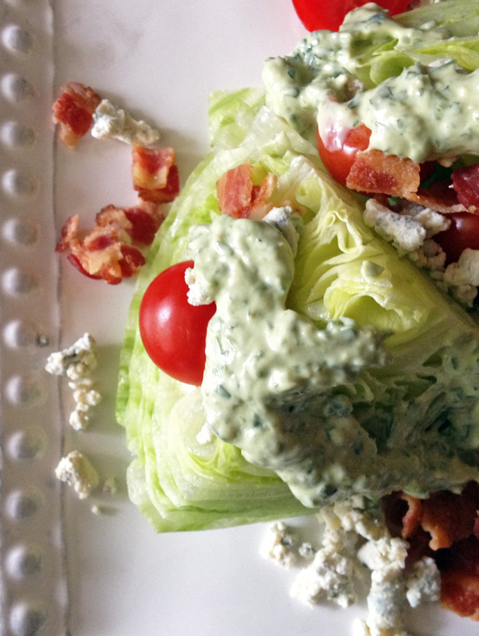 green wedge lettuce salad