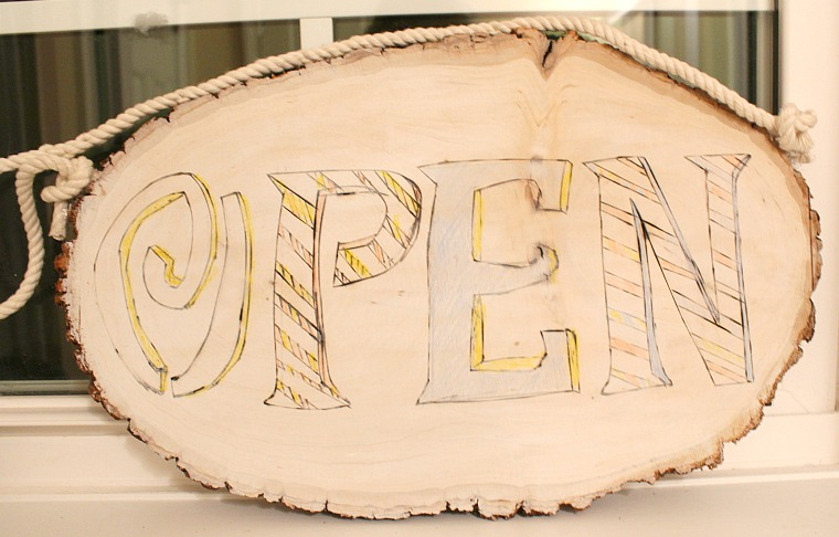 wood sign OPEN [1]