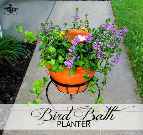 bird bath planter how to