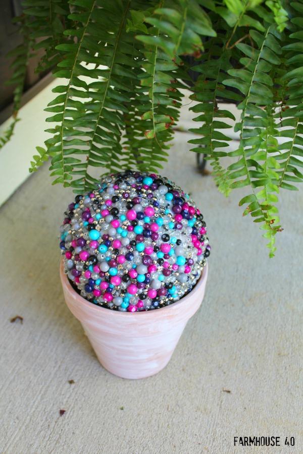 diy garden beaded globe 4470