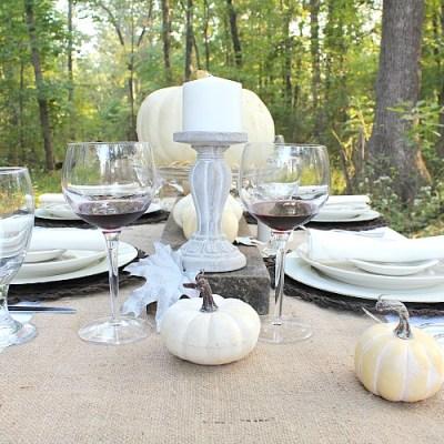Autumn Tablescape Farmhouse Style