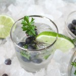 Blueberry Cilantro Mule Cocktail