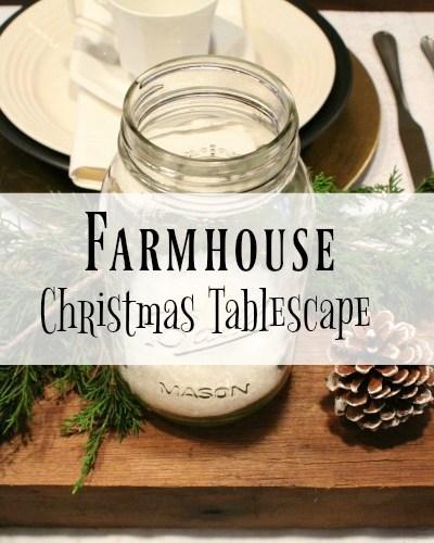 Farmhouse Christmas Tablescape