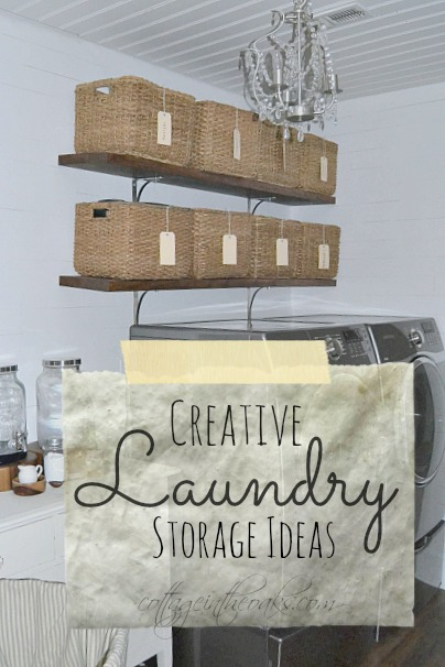 creative laundry storage