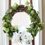 Spring Wreath with Hydrangea & Vines