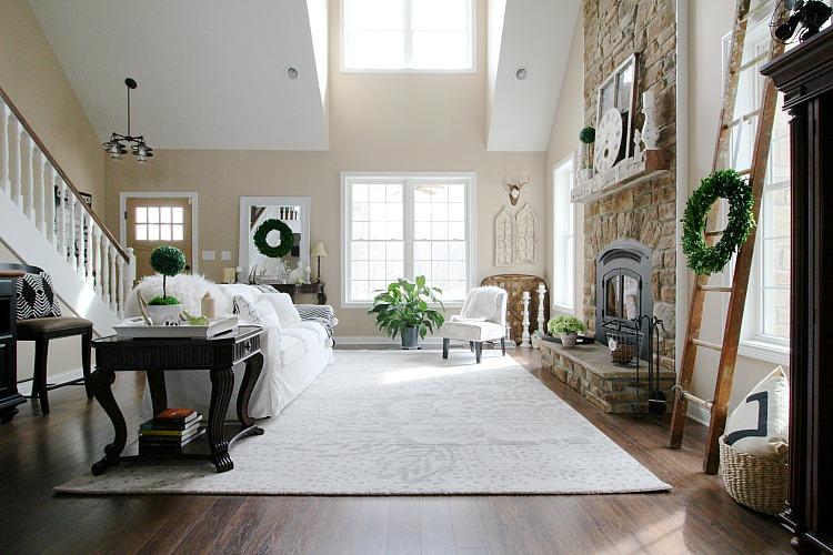 Living Room Area Rug Flower Design Quarry