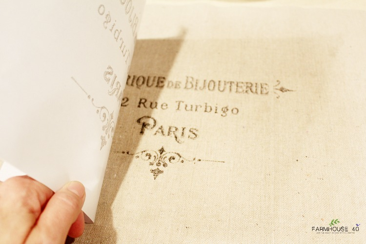 graphic-transfer wax-paper-method