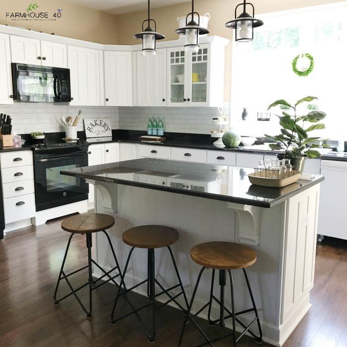 DIY Kitchen Faux Brick Backsplash