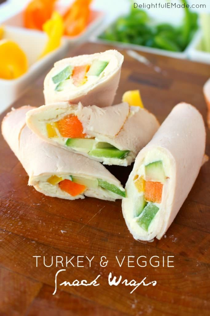 Turkey Veggie Snack Wrap
