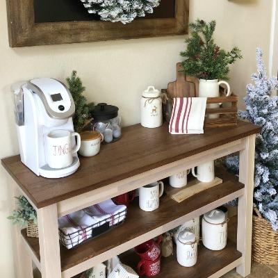 Farmhouse Christmas Coffee Bar