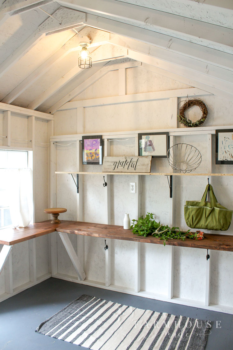 Bright And Light She Shed Makeover Farmhouse Made