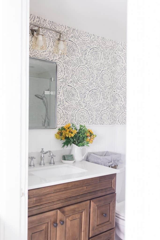 Modern Farmhouse Style Bathroom Makeover Reveal ... on Modern Farmhouse Bathroom  id=49188