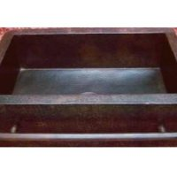 """Farmhouse Apron Copper Sink with Integrated Towelbar - Dark Brown - Small 25""""x22""""x9"""")"""